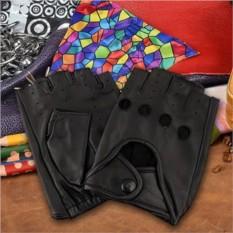 Черные кожаные перчатки для вождения G.Ferretti