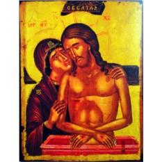 Копия афонской иконы Оплакивание Христа. Не Рыдай Мене Мати