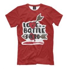 Мужская футболка Love is a battle flero