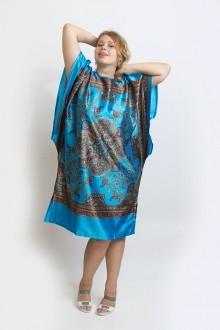 Женская атласная туника, голубая