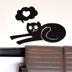 Интерьерная наклейка Кот и неразделенная любовь