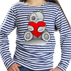 Женская тельняшка Мишка Тедди с сердцем