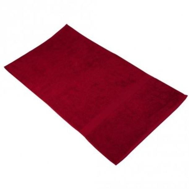 Бордовое банное полотенце Large