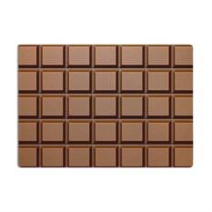 Разделочная стеклянная 3D доска Шоколад
