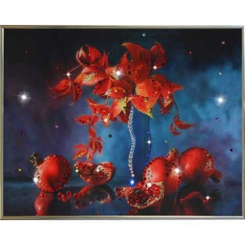 Картина с кристаллами Сваровски Натюрморт гранат