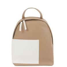 Бежевый рюкзак Белый квадрат