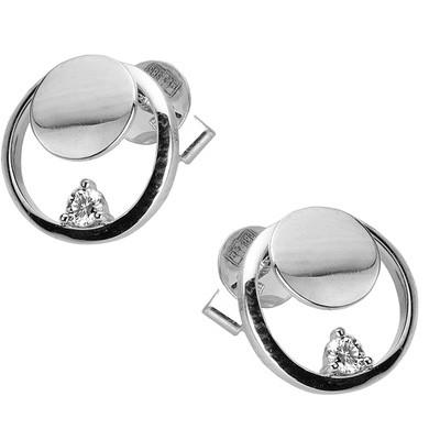 Серьги с бриллиантааи TTF-Luxury