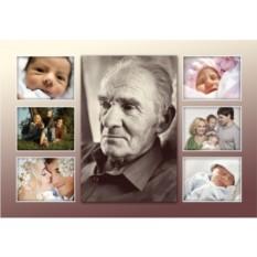 Фотоколлаж на холсте от внуков