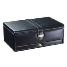 Черная шкатулка для часов и драгоценностей LC Designs