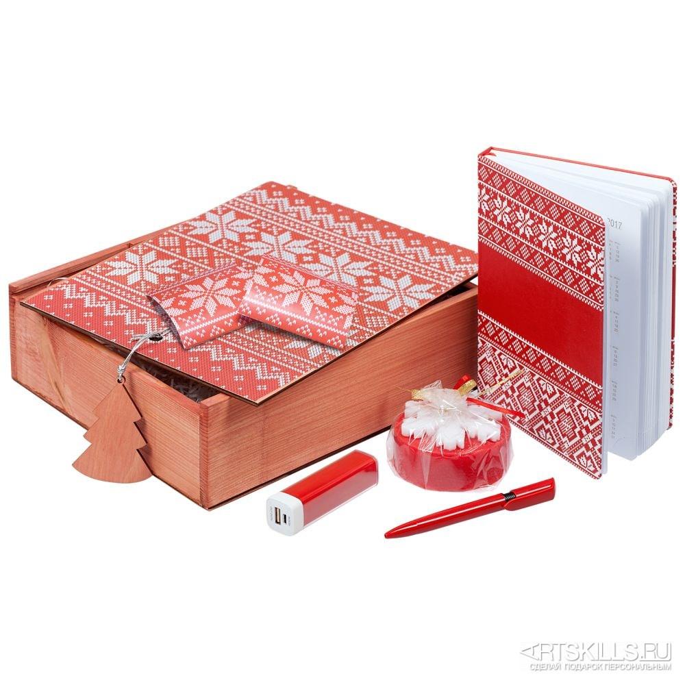 Красный подарочный набор «Деловой»