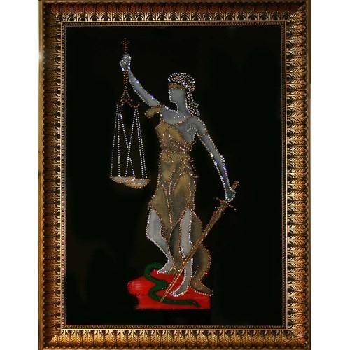 Картина Swarovski Богиня правосудия Фемида