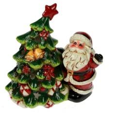 Подсвечник Дед Мороз и ёлка