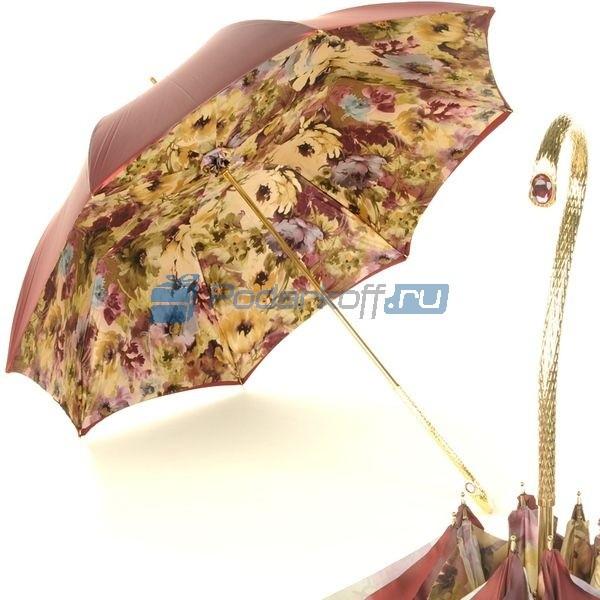 Зонт Трость Pasotti Bordo Fiore Oro