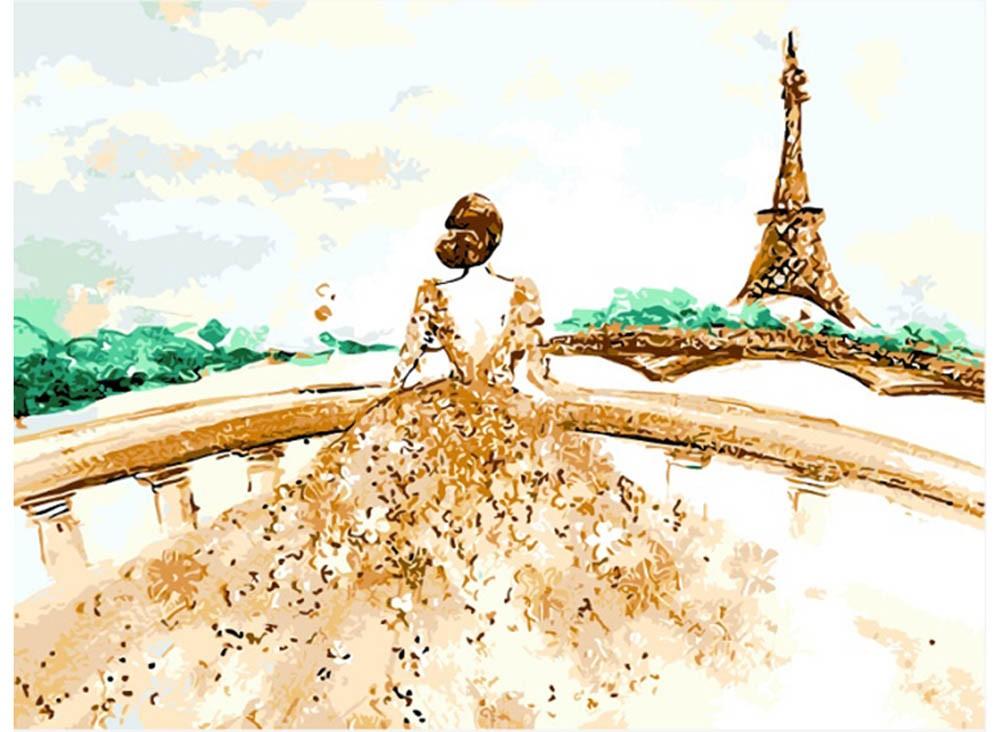 Картины по номерам «Скучающая леди»