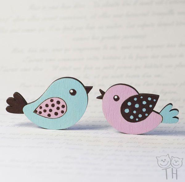 Набор Весенние пташки, 2 магнита