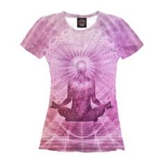 Женская футболка Медитация