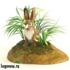 Мягкая игрушка Hansa Белохвостый заяц, 20 см
