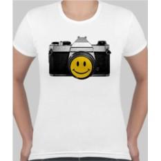 Женская футболка Фотоаппарат