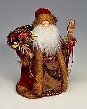 Дед Мороз с мешком подарков, 27 см.