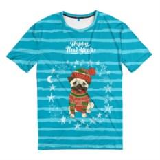 Мужская футболка 3D Happy new year