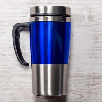 Синяя термокружка Чаепитие