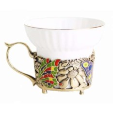 Чашка Бабочки и цветы