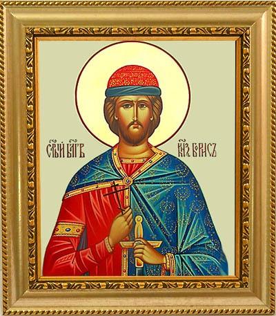 Икона на холсте Борис Святой благоверный князь