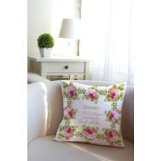 Декоративная именная подушка Букет