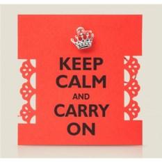 Кулон Корона Keep Calm and Carry On