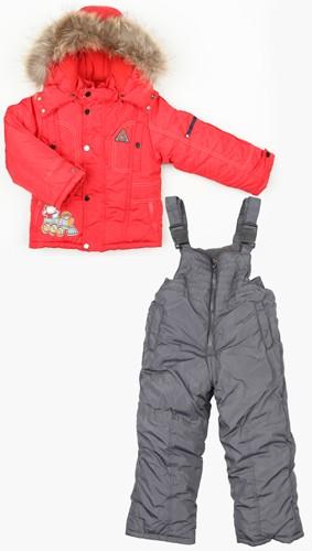 Комплект Fun Time куртка, полукомбинезон цвет: красный
