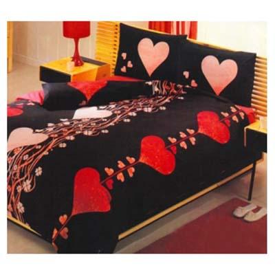 Двуспальное постельное белье RED HEARTS