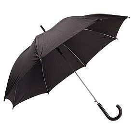 Зонт с пластиковой ручкой, черный
