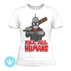 Женская футболка Kill all humans