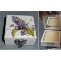 Шкатулка для ювелирных украшений с цветком