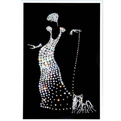 Хрустальная картина «Дама с собачкой»