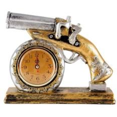Настольные часы на подставке Пистоль