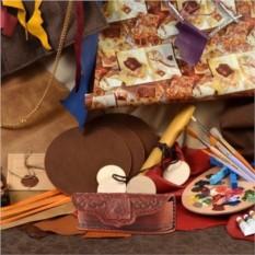 Кожаный коричневый футляр для очков M.Studio