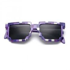 Фиолетовае солнцезащитные пиксельные очки Minecraft