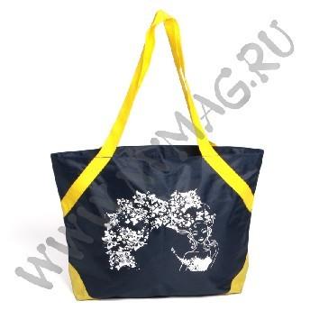 Черная пляжная сумка