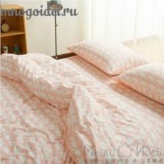 Комплект трикотажного постельного белья Розовый кашалот