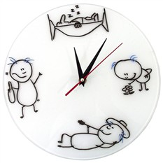 Настенные часы Нарисуй Сам + 3 маркера