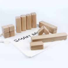 Деревянный конструктор SmartBart с магнитами (24 детали)