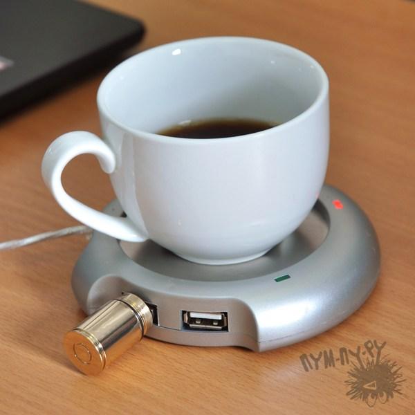 4-портовый USB HUB-нагреватель для кружки Нужный градус