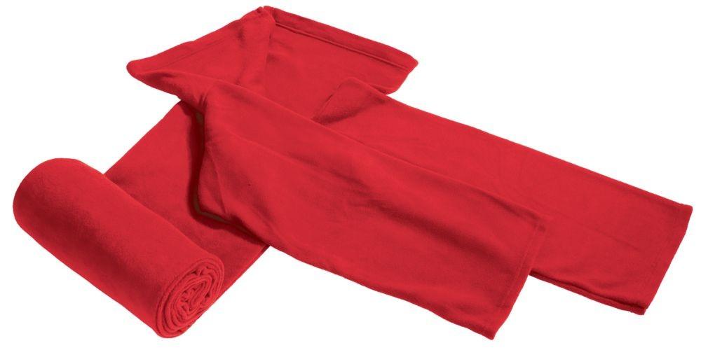 Флисовый ТВ-плед, бордовый