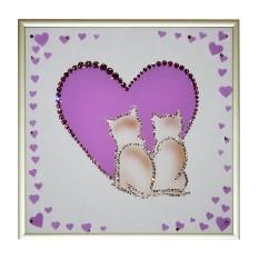 Картина Swarovski Сердце на двоих