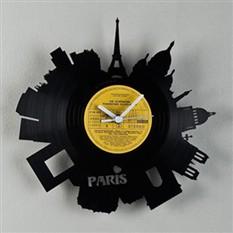 Часы из винила «Париж»