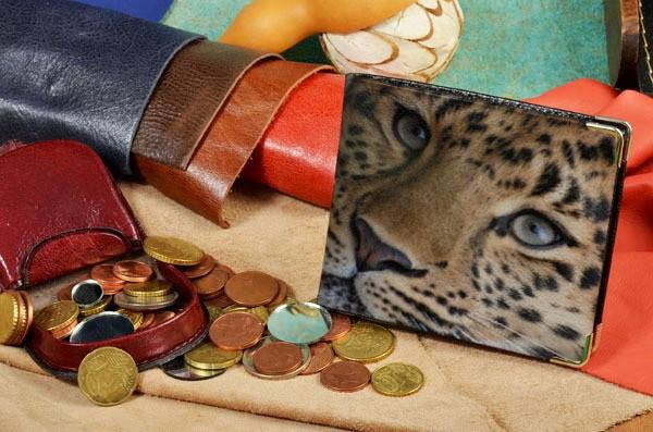 Портмоне с принтом Глаза леопарда