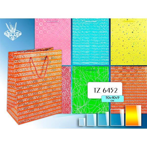 Подарочный бумажный пакет Блеск (30х40х9 см)