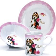Набор детской посуды 3 предмета Спаниель