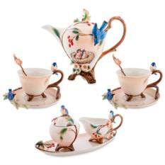 Подарочный чайный набор «Голубые птицы»